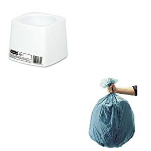 KITRCP501188GRARCP631100WE - Value Kit - Rubbermaid-White Polypropylene Toilet Bowl Brush Holder (RCP631100WE) and Rubbermaid 5011-88 Tuffmade Polyliner Low-Density Can Liners, 55 Gallons (RCP501188GRA)