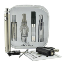 cheapest product electronic cigarette 650 900 1100 mah battery evod portable 4 in 1 Dry Herb Vaporizer with 4 Atomizer