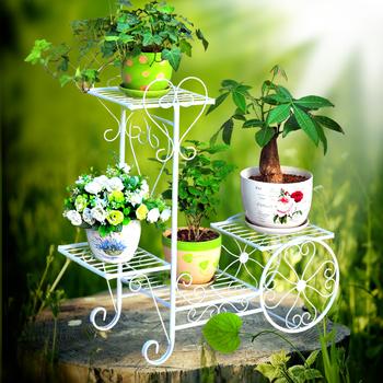 Wrought Iron Metal Bicycle Flower Pot Holder