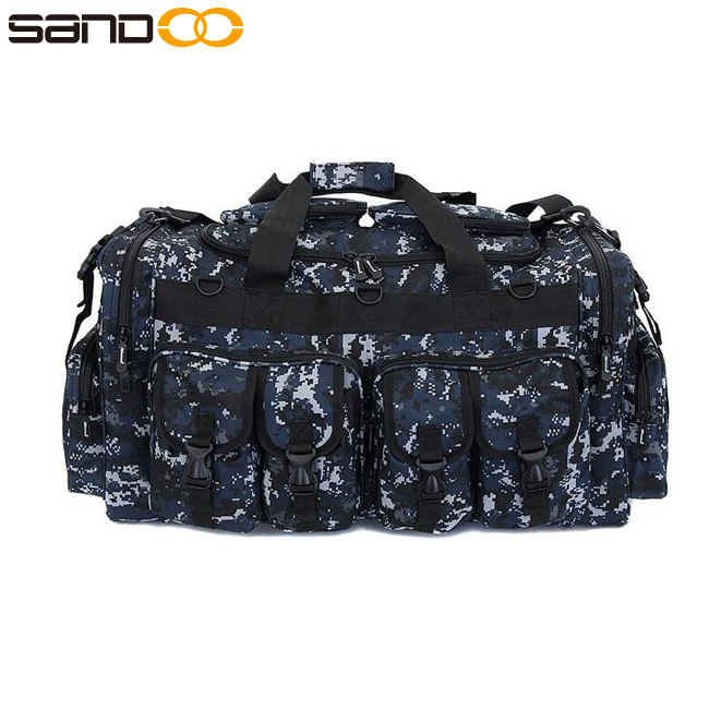 sandoo new design large capacity camo men tactical duffel bag