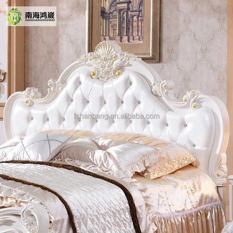 Estilo europeo clásico muebles set queen size diseños cama king size ...