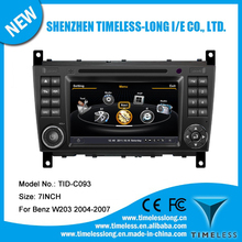 Car DVD for Mercedes Benz C class W203/ CLK W209 with built-in GPS A8 chipset RDS BT 3G/Wifi DSP Radio 20 dics momery(TID-C093)
