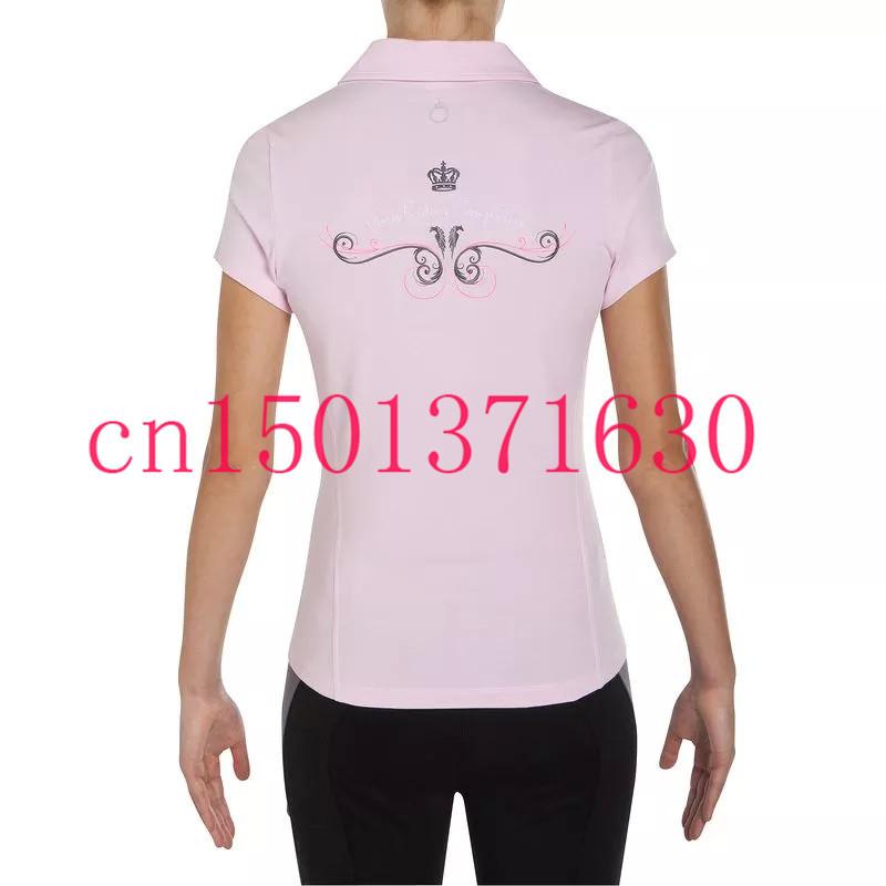 2015 новых женских летом спортивные короткие джерси верховая езда классические рубашки поло розовый цвет