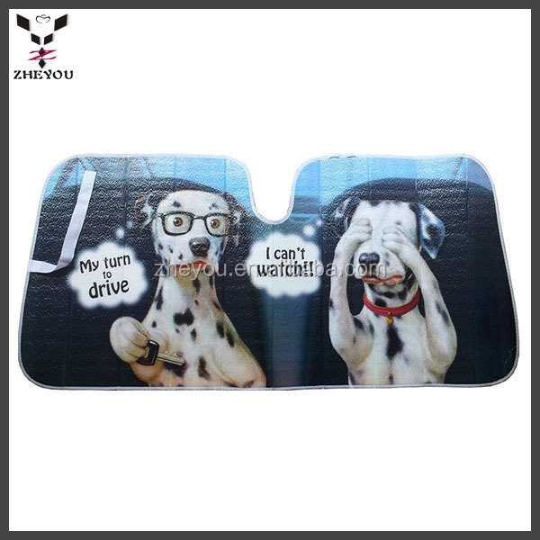 Cute Dogs Design Car Front Window Sunshade Windshield Sun