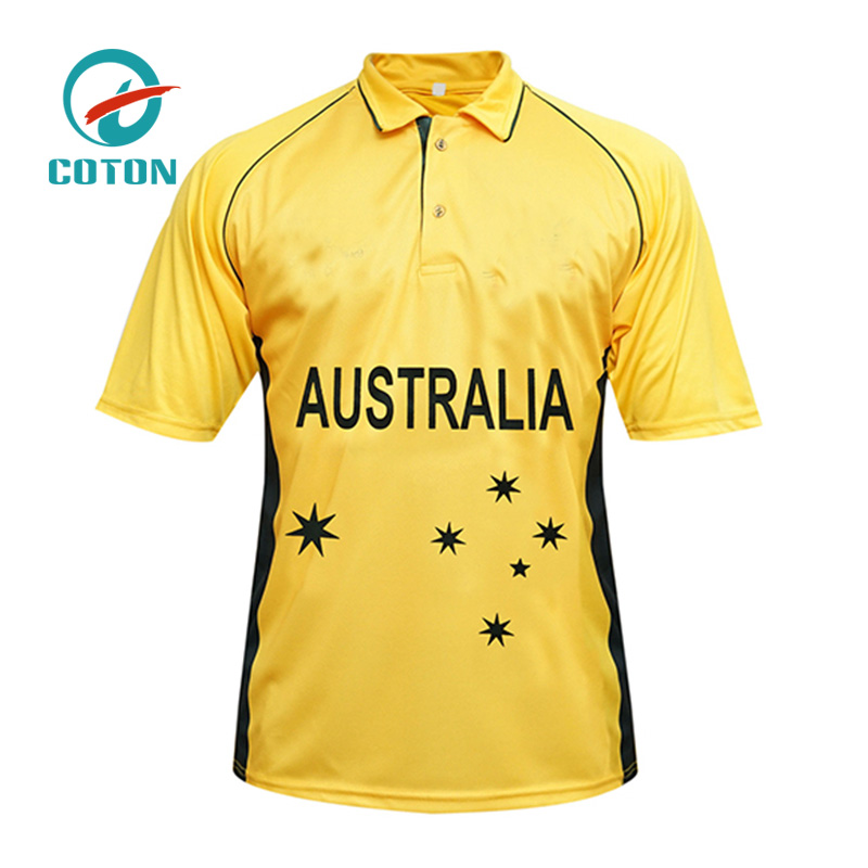 Sublimation Printed Design Youth Cricket Shirts