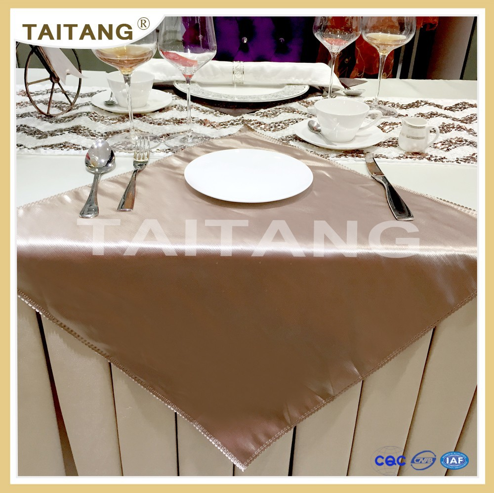2017 soft luxury satin brown hotel napkin - buy hotel napkin