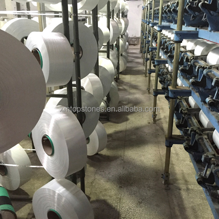 China suppliers dope dyed 100% polyester poy yarn 75D to 600D