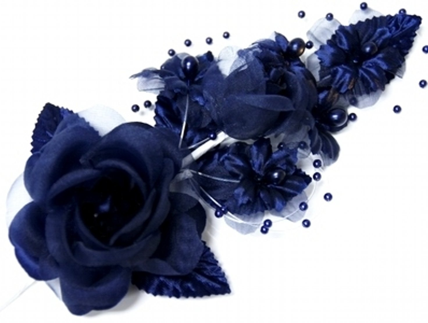 Cheap navy silk flowers find navy silk flowers deals on line at get quotations 3 navy blue silk flowers pearl organza corsages 5x 25 with a mightylinksfo