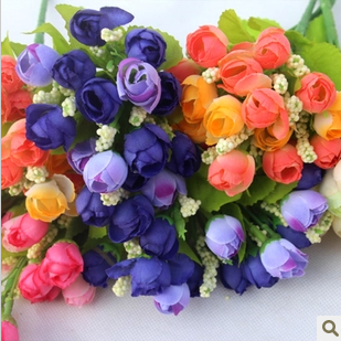 Artificial flower silk flower - decoration flower small spring buds 5 balcony