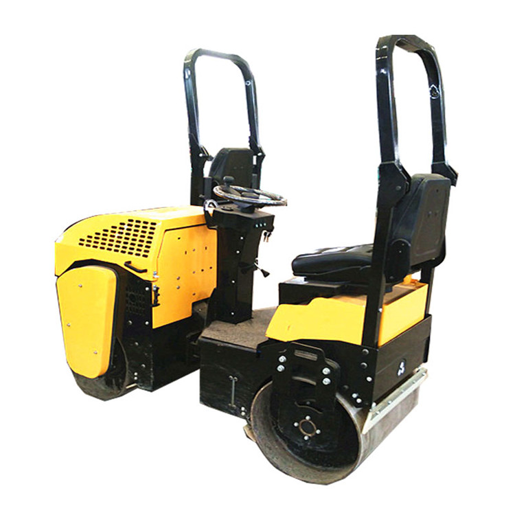full hydraullic 1 Ton double drum vibrator road roller