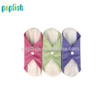 Popfish Bamboo Fabric Reusable Cloth Menstrual Pads Sanitary Pads Washable