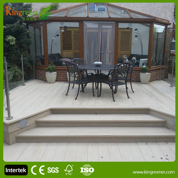 Wood Plastic Composite Decking For Deck Cover With Recycled Lumber