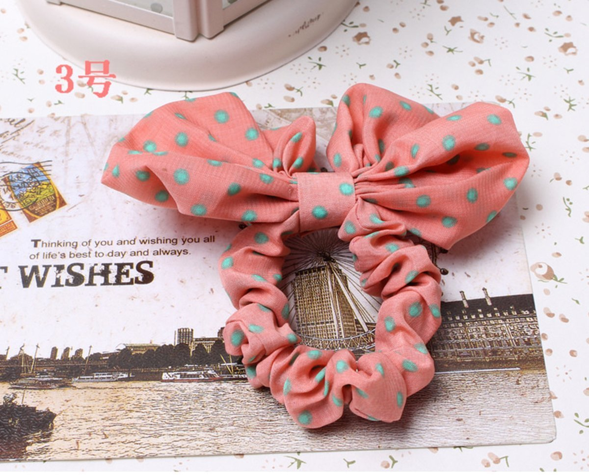 A.H® 2x Funny Cute Girls Rabbit Ear Hair Tie Bands Ponytail Ropes Holder Bracelet (NO.3)