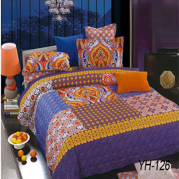 Made In China Indian Style Beautiful Patterns Bright Color Comforter Sets