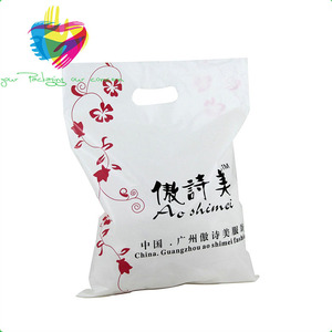 yiwu China factory die cutting handle gift bag/plastic die cut carry bag