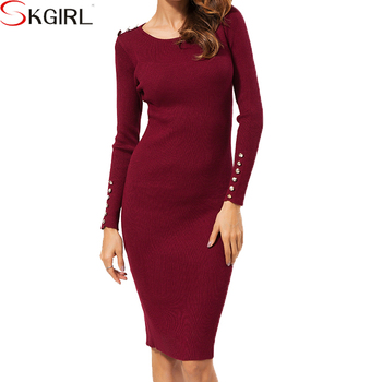 2017 Autumn Winter Women Fall Wear Dress Long Sleeve Cotton Fitted Ribbed Jumper Dress Buy Robe Pull Cotelee Ajustee Pour Femme Robe D Hiver A Manches Longues Robe En Coton D Hiver Coreen Product On Alibaba Com