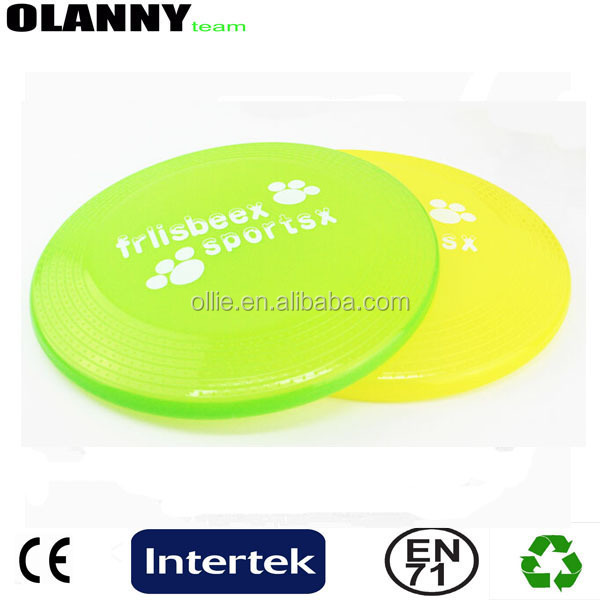 brand logo mini size China supplier wholesale yellow flying disc plastic frisbee