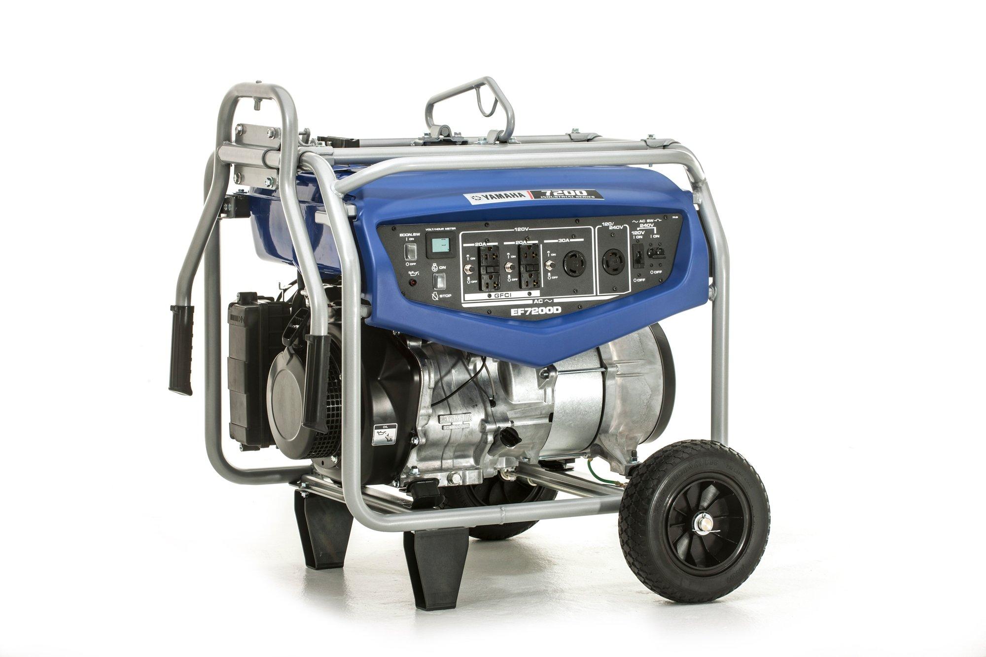 Get Quotations · Yamaha EF7200D Generator with Manual Start, 7200-watt