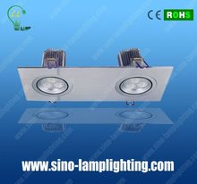 High power square shape led downlight