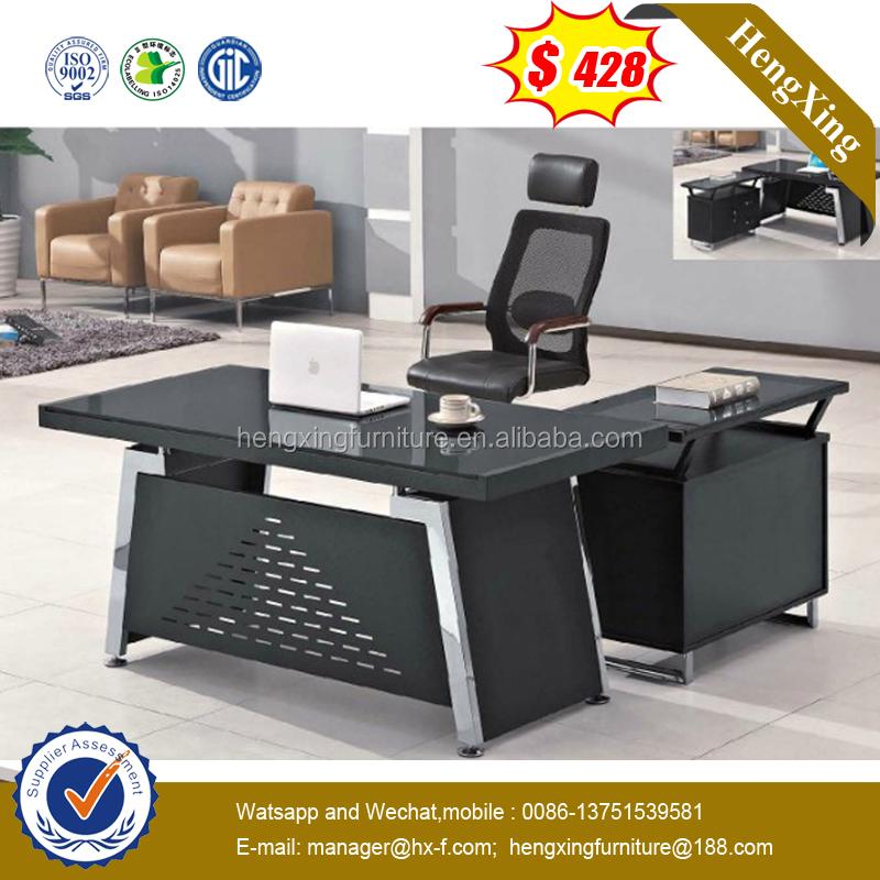 de escritorio de oficina moderno mobiliario de oficina de acero inoxidable de la pierna