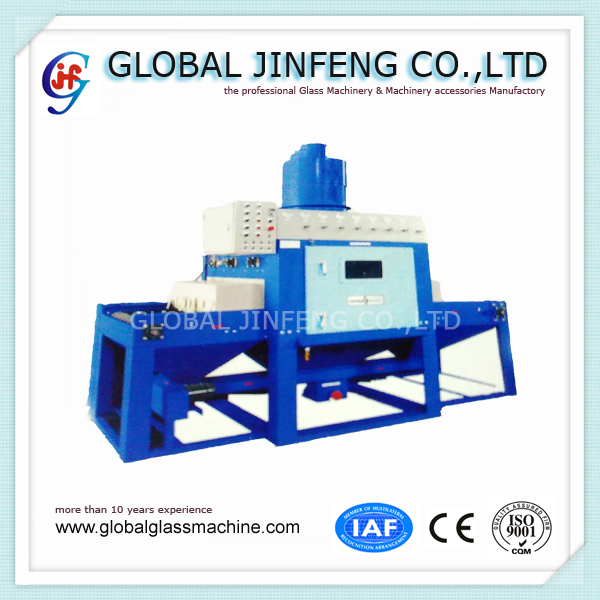 JFP-1300 horizontal automatic glass sandblasting forsting equipment hot sale with CE