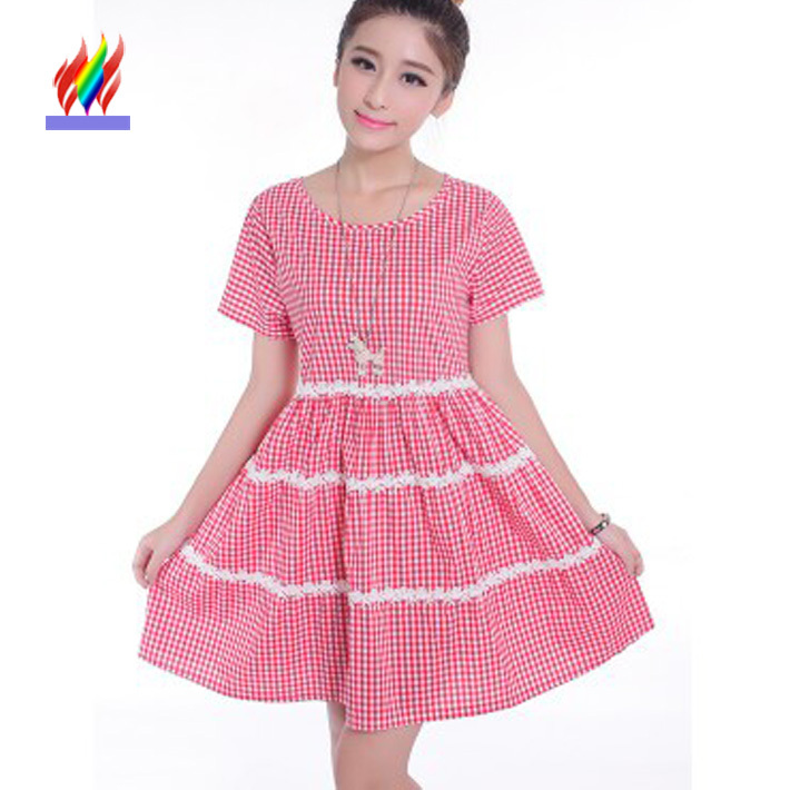 bbc12a25a4 Get Quotations · 2015 New Hot Korean Preppy Style Cute Dresses For Juniors  Loose Super Mini Summer Beach Red