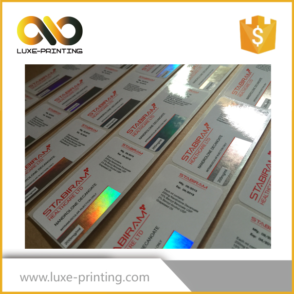 Best sterile glass vial labels ,oral hologram labels, pharmaceutical labels printer