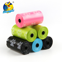 Customized 100% Biodegradable Plastic Bags Dog Waste Poo Bags Roll