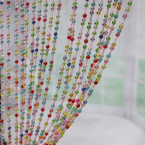 2016 High Quality Wholesale Acrylic Plastic Colorful Beaded Curtains For Windows Decoration