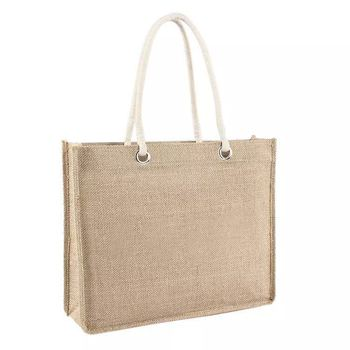 3f9c577899 shoulder strap plain jute beach bags logo print jute shopping bag  promotional hessian burlap tote jute