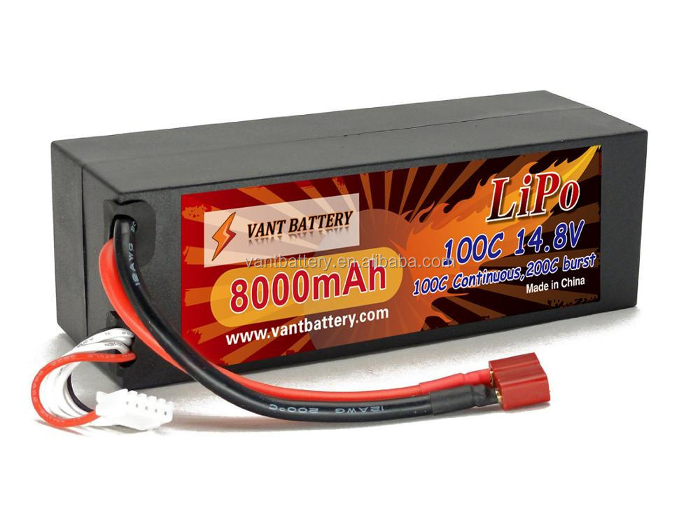 14.8v 8000mah 100c lipo rechargeable battery for rc car hard case
