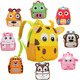 ZW157 Wholesale Lightweight Kids Plush Backpack Animal Shaped Cute funny School Backpacks for kids