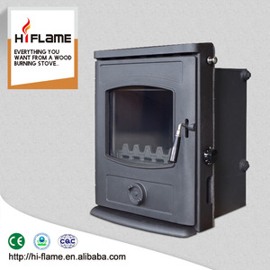 HiFlame Cast Iron door and wood stove type Insert with water Boiler GR357iB