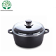 Good Price Chinese 4L 5L 6L Black Aluminum Non Stick Die-Cast Dutch Oven with Glass Lid
