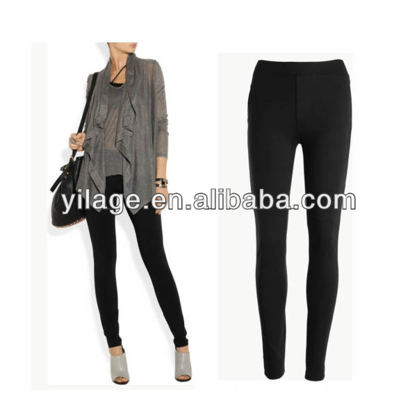 New Black Quality Mid Weight Stretchy Legging Style Skinny Pants L1245
