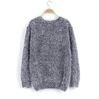 2017 New Autumn Women Sweater Warm Mohair O-Neck Women Pullover Long Sleeve Casual Loose Sweater Knitted Tops