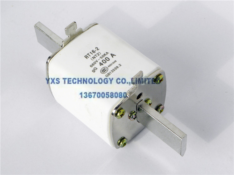 Low-voltage fuses ceramic body RT16-2 NT2 RT20-2 R033 NH2 3N1 square tube Knife