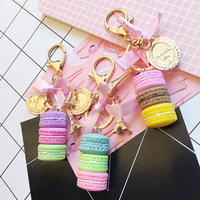 Hot sale Fashion key ring boutique in Paris France Eiffel Tower Colorful Bow Macaron cake Keychain sweet gift For Women