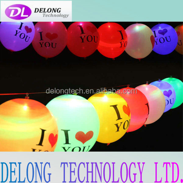 12 inch high quality latex led wedding lighted balloons light up colorful decoration balloon
