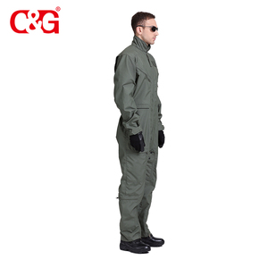 Fashionable army military pilot mechanic coveralls