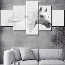 High quality printed canvas wild running horses painting animal drawing pictures oil painting