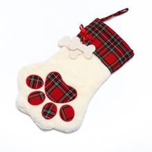 Cane tangger chaussette de Noel Chien Animal de compagnie Cadeau Forme osseuse Bas de No/ël d/écoration de No/ël