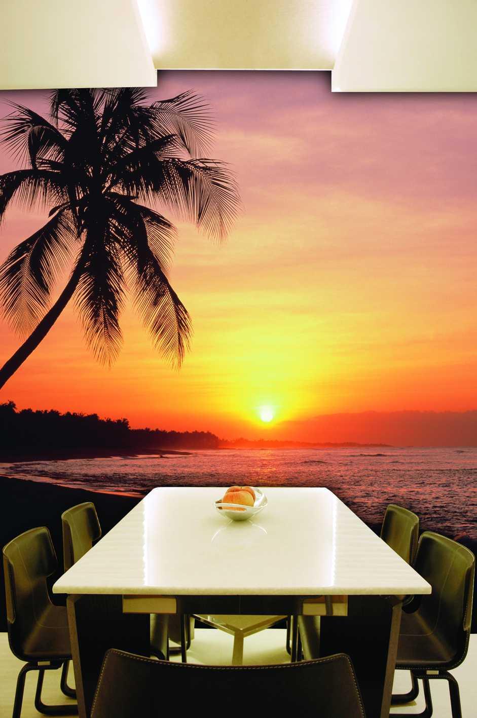 PhotowallPercetakan Wallpaper PemandanganSunset Pantai Laut