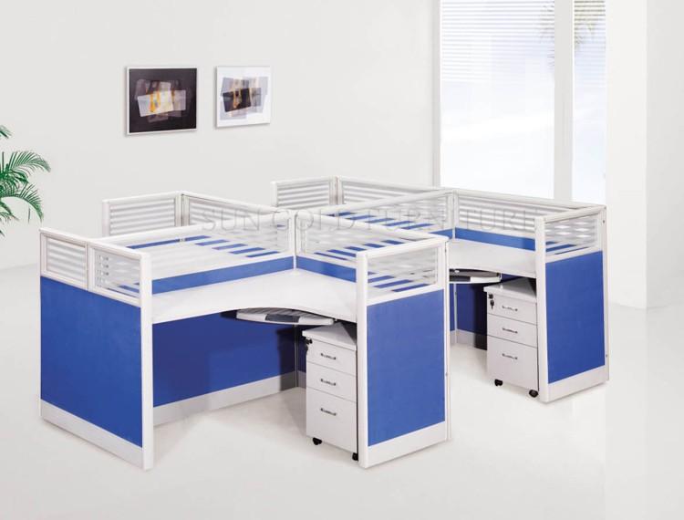 Moderne kantoor partitie bureau cubicle ontwerp voor mensen sz