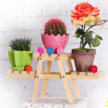 tag re en bois pour pot de fleur support de fleurs en. Black Bedroom Furniture Sets. Home Design Ideas