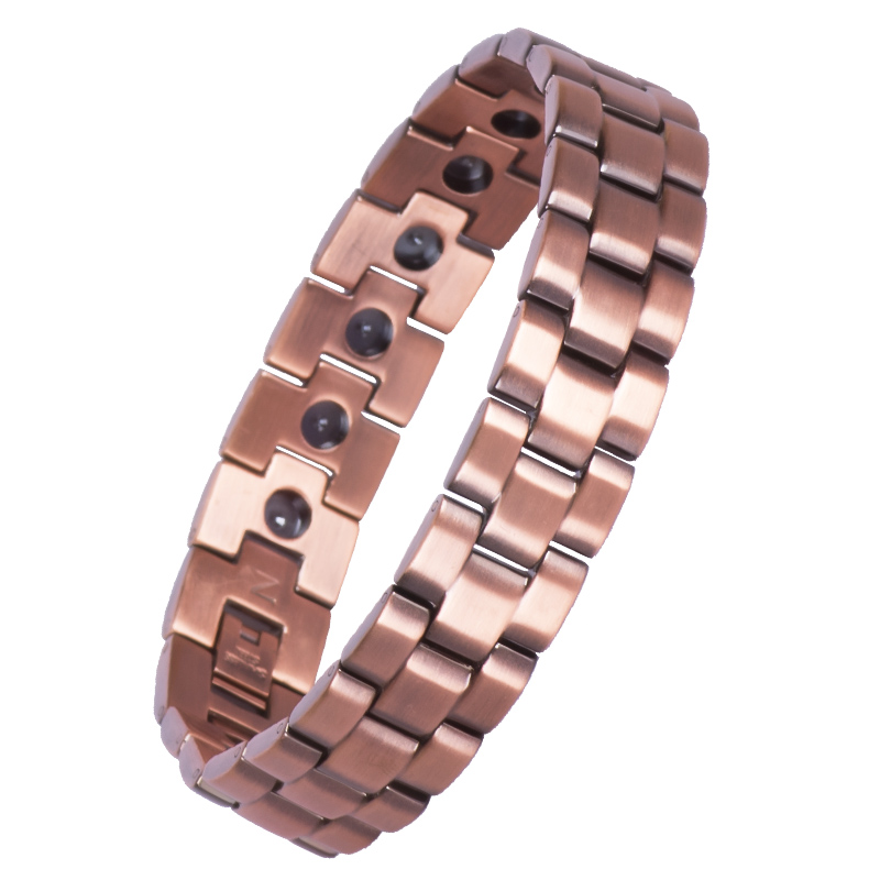 Hematite Bead Man Cuff Wire Blank Solid Men Jewelry Bracelet Copper