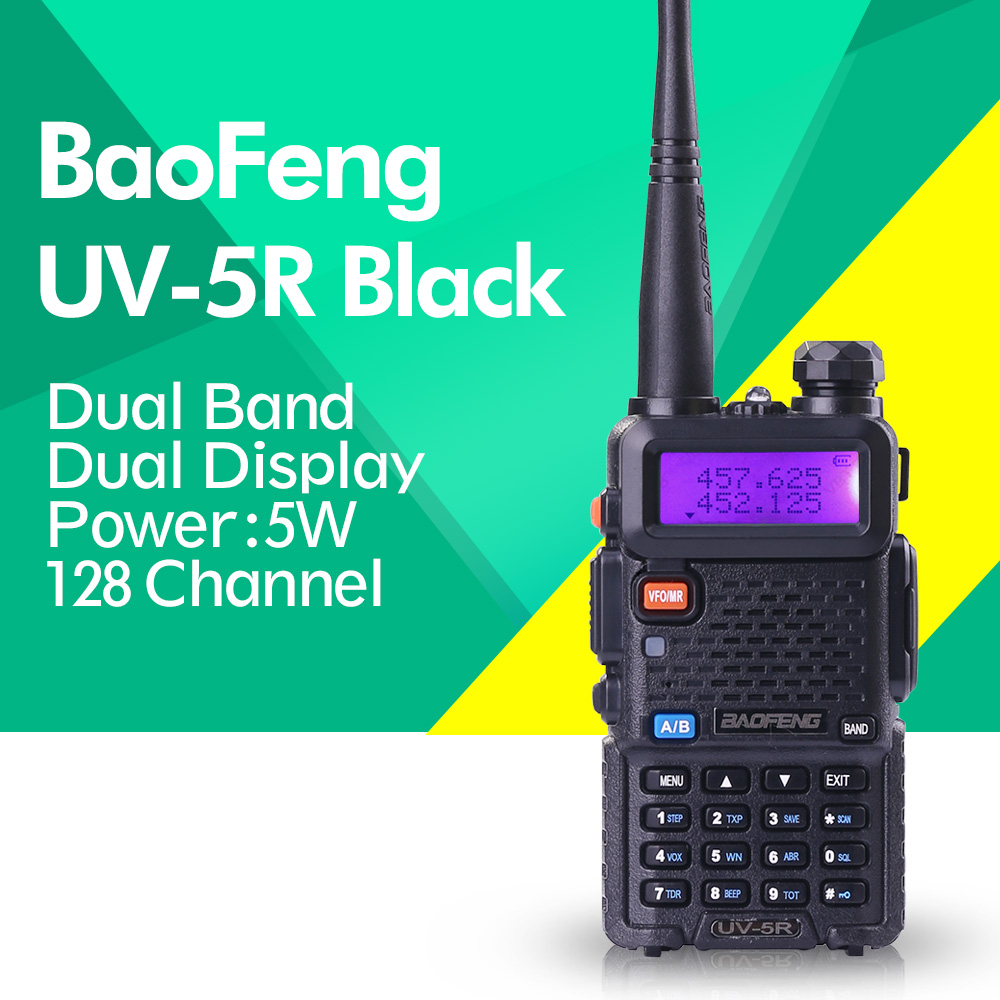 97bdb7905 ... Way Radio with 1800mAH Battery free earphone. BAOFENG UV 5R Walkie  Talkie Dual Band Radio 136 174Mhz 400 520Mhz Baofeng UV5R handheld Two