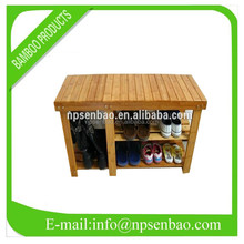 3 ties bamboo shoe bench