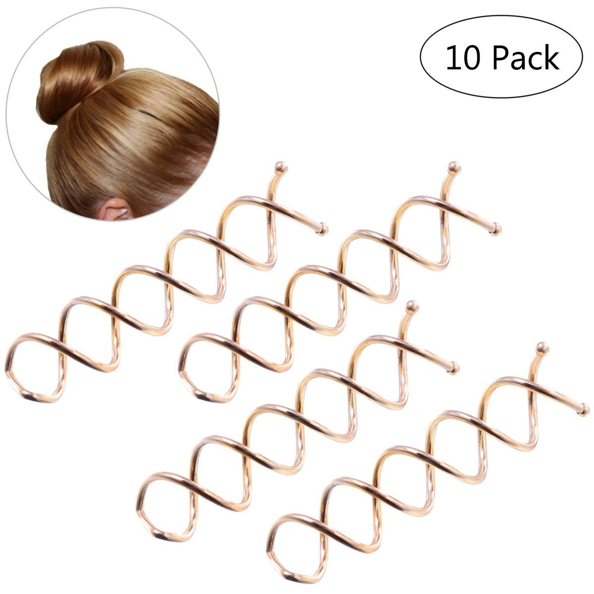 Clips Women Pcs To Medium For Hair Pin Twist Accessories Fashion Clip Stylish Spin Spiral Hair 10pcs Great Set Black Long Tools & Accessories