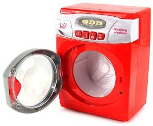 Arcade Washing Machine Pretend Play Battery Operated Toy Washing Machine Play Set w/ Lights, Sounds, Rotating Drum, Model: , Toys & Play